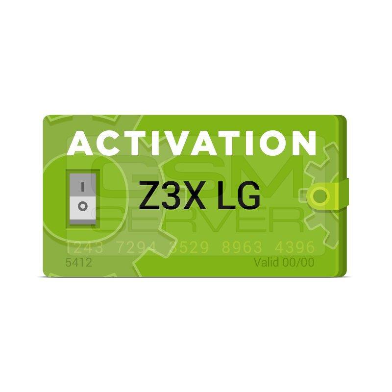 اکتیویشن LG برای z3x