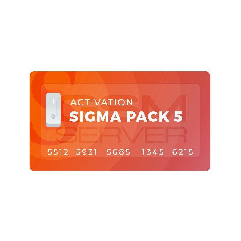 اکتیویشن باکس سیگما sigma پک 5