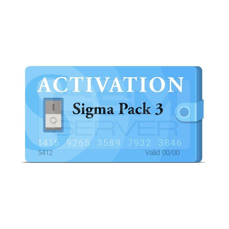 اکتیویشن باکس سیگما sigma پک 3|سافت موبایل