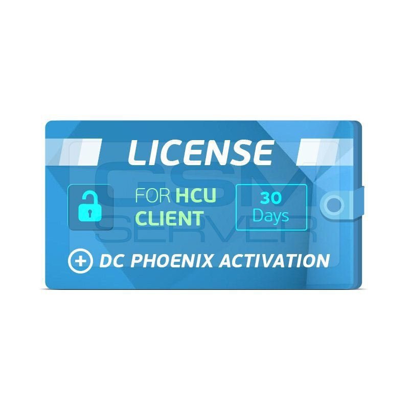 اکتیویشن 30 روز HCU Client+DC PHOENIX