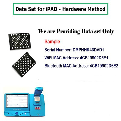 ipad serial&Bluetooth&wifi address for icloud remove