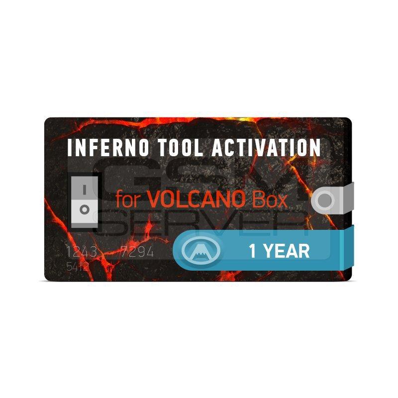 اکتیویشن inferno tool برای باکس Volcano